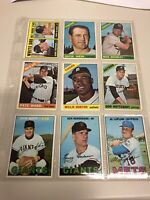 1966 1967 Topps Lot Of 9 Vintage Baseball Cards White Sox Rookie.
