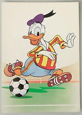 (PRL) 1985 WALT DISNEY PAPERINO FOOTBALLER DONALD DUCK CARTOLINA CARD COLLECTION