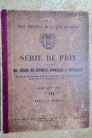 série de prix applicable aux travaux des batiments 1910