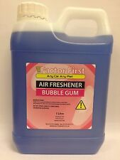 1L CAR AIR FRESHENER TRADE BLUE BUBBLEGUM FRESHNERS CARWASH VALETING SMELL NEW