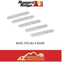 Rugged Ridge Elite Door Handle Inserts 07-18 Jeep Wrangler JKU 4 Door Brushed