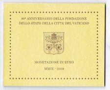 Vatican officiel Ensemble de cours 2009 avec tous Pièces de monnaie 1 Cent