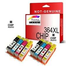 8x 364xl Cartucho de tinta con Chip para HP Officejet 4610 4622 4620 non oem