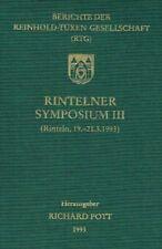 Pott, Richard (Herausgeber): Berichte der Reinhold-Tüxen-Gesellschaft (RTG): Ri