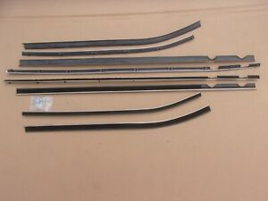 NEW 1963 1964 Chrysler Hardtop Window Sweep Catwhisker Belt Weatherstrip Set
