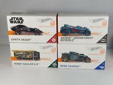 Hot Wheels ID LOT OF 4 BOXED CARS DARTH VADER BATMOBILE HIWAY HAULER BONE SHAKER