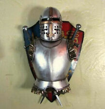 Medieval Knight Armor Vintage Hand Made Metal Art Bar Wall Decor B Free shipping