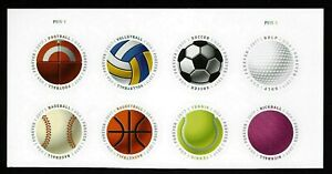 HAVE A BALL US SPORTS SOCCER #5203-5210  MLB NFL NBA 8 FOREVER STAMP PLATE BLOCK