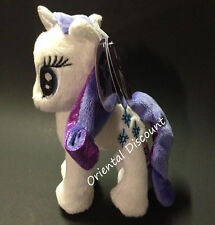 """Aurora World 6.5"""" My Little Pony Rarity Horse Plush Stuffed Toy NEW with Tags"""