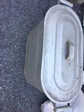 Antique Coal Scuttle  Bucket Vtg Primitive  Metal Ash Fireplace Wood Box