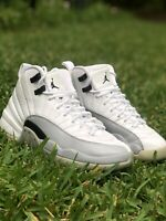 Nike Air Jordan 12 XII Retro Barons White Grey Youth SZ 5Y 510815-108 Wm 6.5