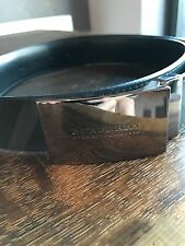 Burberry Reversible Men's Leather Belt Buckle Check No Reserve