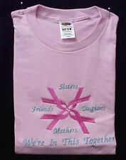 Breast Cancer Sweatshirt M Pink Ribbon Sister Daughter Friend Crew Neck New