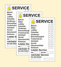 140 Serviceaufkleber 70 x 41 mm, Papier Inspektionsaufkleber nächster Termin