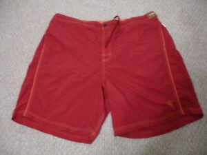 New CARIBBEAN ROUNDTREE & YORK Men's Swimming Trunk Shorts Swimwear Rust 1XB $58