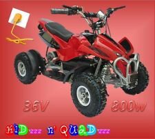 36V 800W sportif COBRA 800 - quad pour enfant - 35 km/h Rouge/Noir
