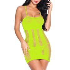 Fashion Women Mesh Sexy Lingerie Fishnet Babydoll Mini Dress Nightwear Bodysuit