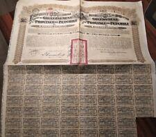 China 1913 provincia Chino Petchili 20 libras cupones no cancelado Bond préstamo