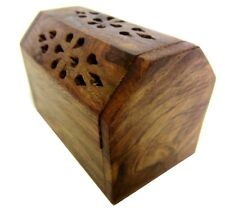 Hand Carved Wooden agarbatti incense cones & dhoop batti box/case/stand/holder