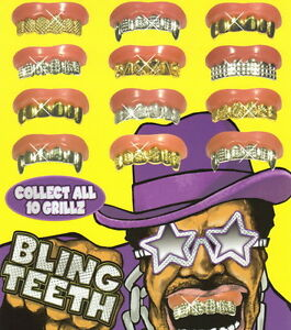 5 Bling Grill Grillz Fake Teeth Bulk Halloween Birthday Gold Silver For Kid New