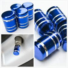 aluminum air valve cover cap blue round tyre tire stem wheel rim vc2u3 all fit