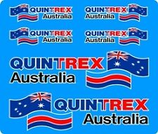 Quintrex Australia Flag, 5 Colour, Fishing,Boat, Mirrored Sticker Decal Set of 6