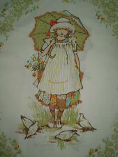 Vintage EXTRA LARGE HOLLY HOBBIE Fabric Panel - Genuine #2