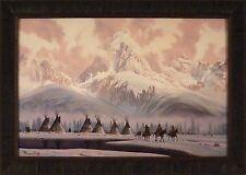 THE NEW DAY by Roy Kerswill 24x33 FRAMED PRINT PICTURE Western Native American