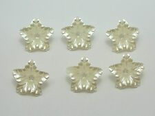 100 Ivory Acrylic Pearl Bead Cap Bellflower Bell Flower Beads 16mm