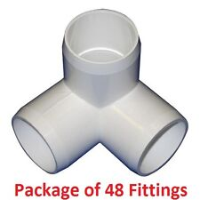 "3/4"" Furniture Grade 3-Way Corner Elbow PVC Fitting - 48 Pack"