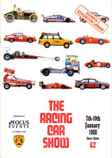 Racing Car Show Official Showguide Olympia 1988