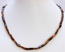 OJO DE TIGRE Collar piedras preciosas, 45cm largos, bloque, collar, Joya