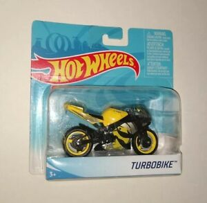 HOT WHEELS 1:18 MOTORCYCLE Turbobike Yellow RARE Real working parts Street Power