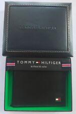 ORIGINALE TOMMY HILFIGER uomo oxford pelle carta di credito Portafogli Nero