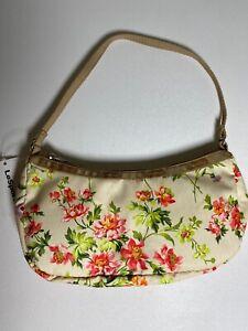 LeSportsac Lulu Sandalwood Tan Floral Mini Handbag Purse NWT 10x5x3.5