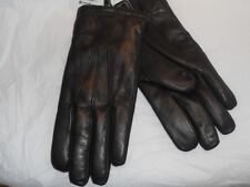 Mens Finest Deluxe White Rabbit Fur Lined Genuine Leather Gloves