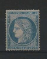 "FRANCE YVERT 60 A  SCOTT 58 "" CERES 25c BLUE 1871 "" MNH VVF   R254"