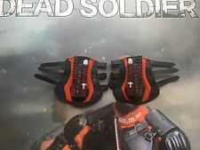 Art Figures Dead Soldier Deadshot Dual Wrist Weapons & Pads loose 1/6th scale