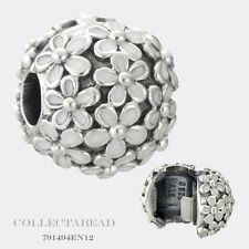 Authentic Pandora Silver Darling Daisy Meadow with White Enamel Clip 791494EN12