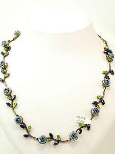 Rosa Templin Collier Rosen blau grün  47 cm