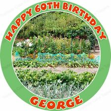 Personalised Allotment Gardening Growing Edible Icing Birthday Party Cake Topper