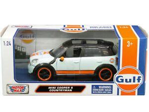 Motormax 79653 Mini Cooper S Countryman 1:24 Gulf oil Racing Light Blue