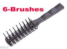 Scalpmaster Original Vente Hair Brush 7-Row plastic ball tip bristle (6 brushes)