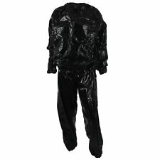 Q4 Heavy Duty Fitness Weight Loss Sweat Sauna Suit Exercise Gym Anti-rip Black 3