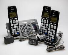 Panasonic KX-TGE240 DECT6.0 Cordless Telephone Answering Machine 3 Handsets 2.M1