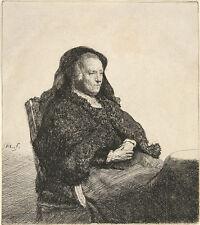 Rembrandt Etching Reproductions: 4 Family Portraits - Fine Art Print