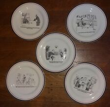 Restoration Hardware New York Cartoon Wine Cheese Appetizer Plates Red Black