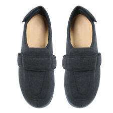 NEW Men/'s Foamtreads Tradition Washable Black Slippers with Black Soles