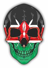 "Skull Flag Kenya Car Bumper Sticker 4"" x 5"""