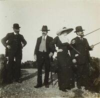 FRANCE Snapshot Mode Hommes Femmes Hiver 1912, Photo Stereo Plaque Verre VR2L12n